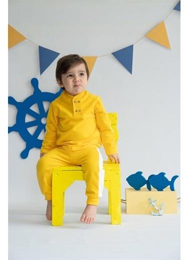 Nila Kids Yellow Blossom Organik Erkek Bebek Sweatshirt Sarı